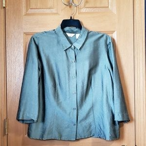 Silk Olive Blouse